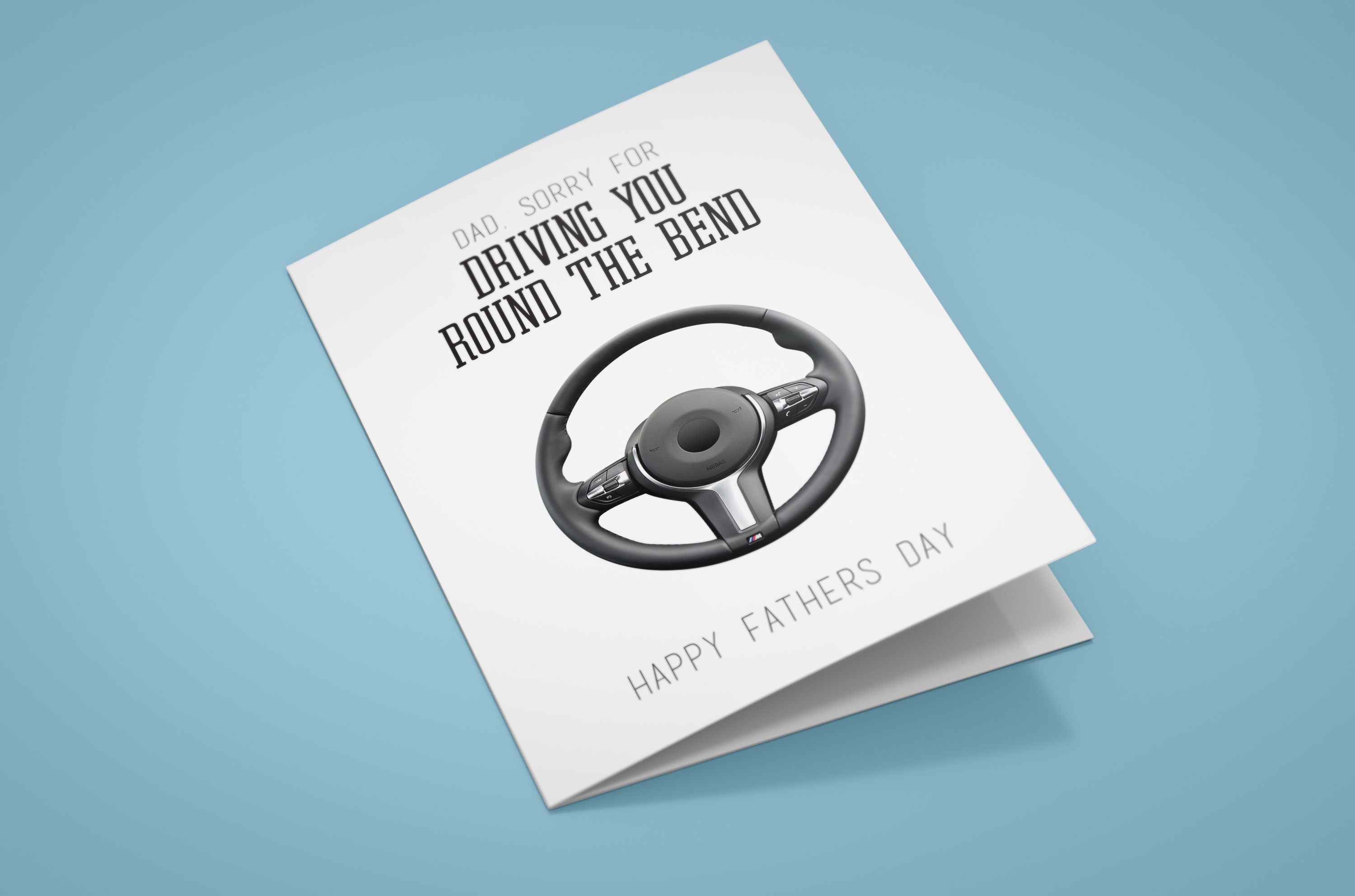 Free Steering Wheel fathers day card