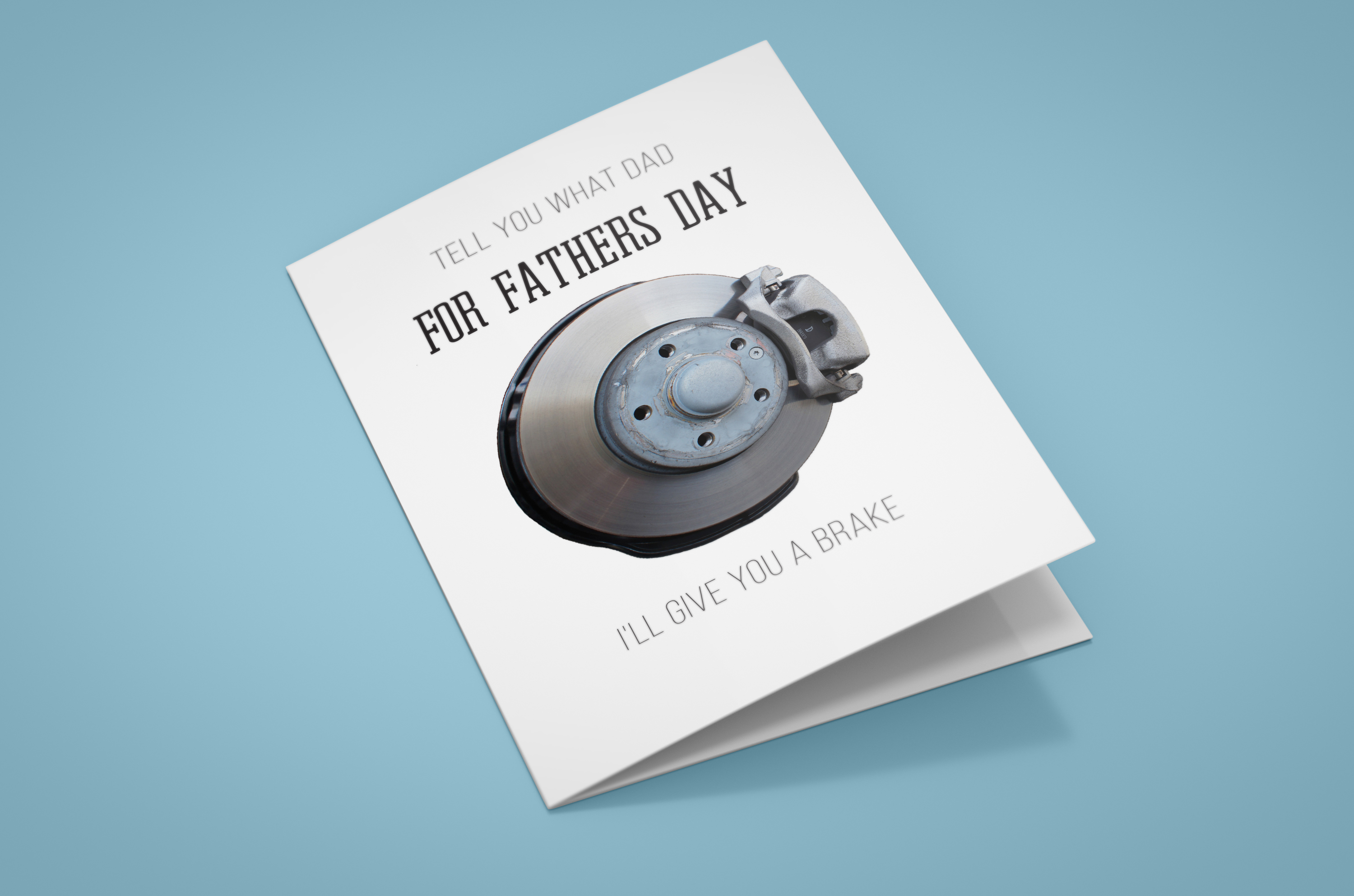 Brake Disc Fathers Day Card