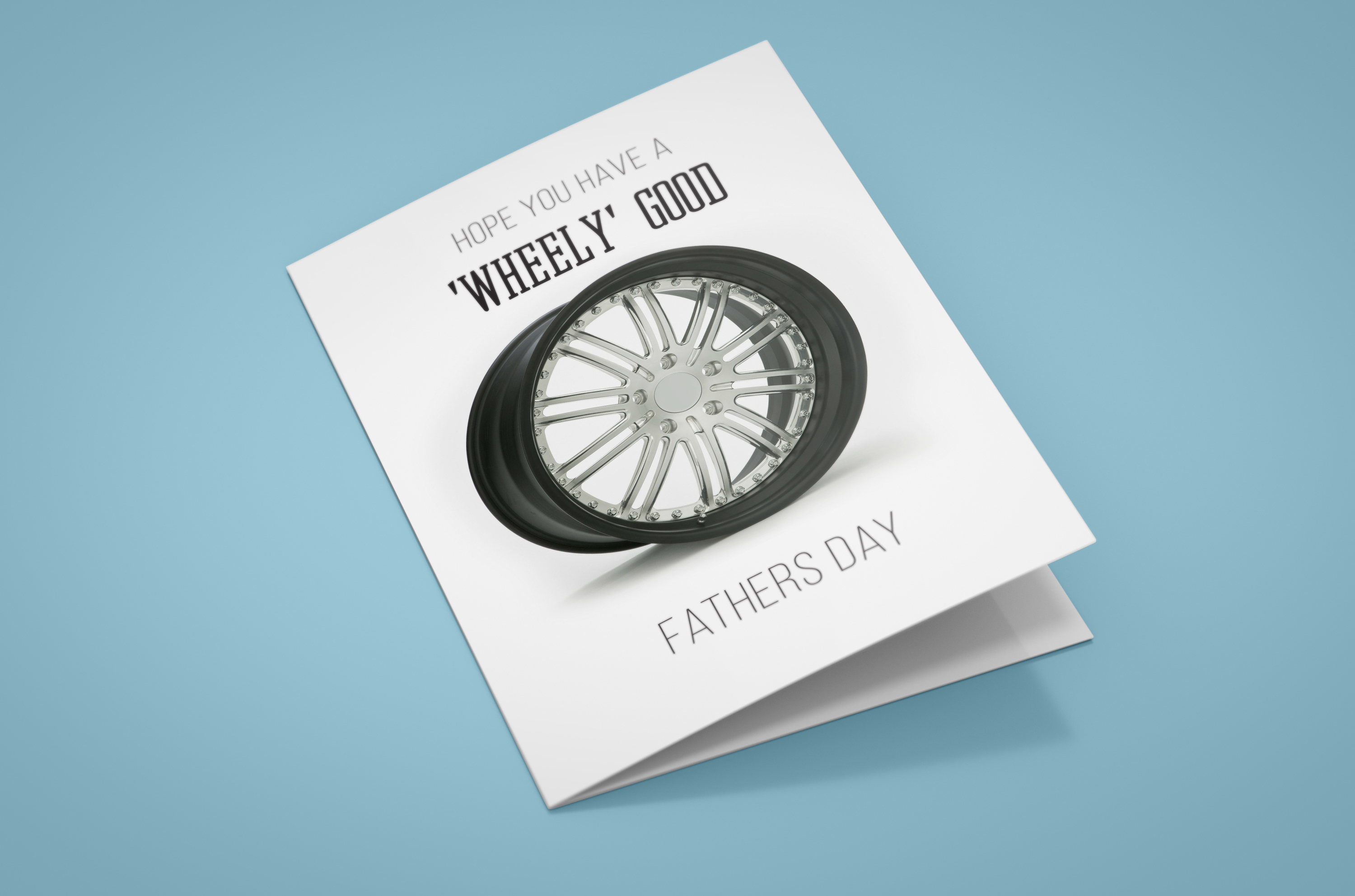 Free Wheel - Tyre Fathers Day Card