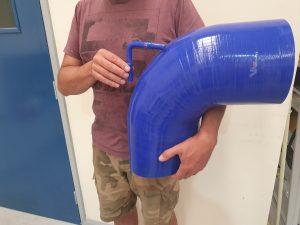 large silicone hose 90 degree