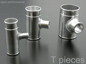t piece aluminium pipe