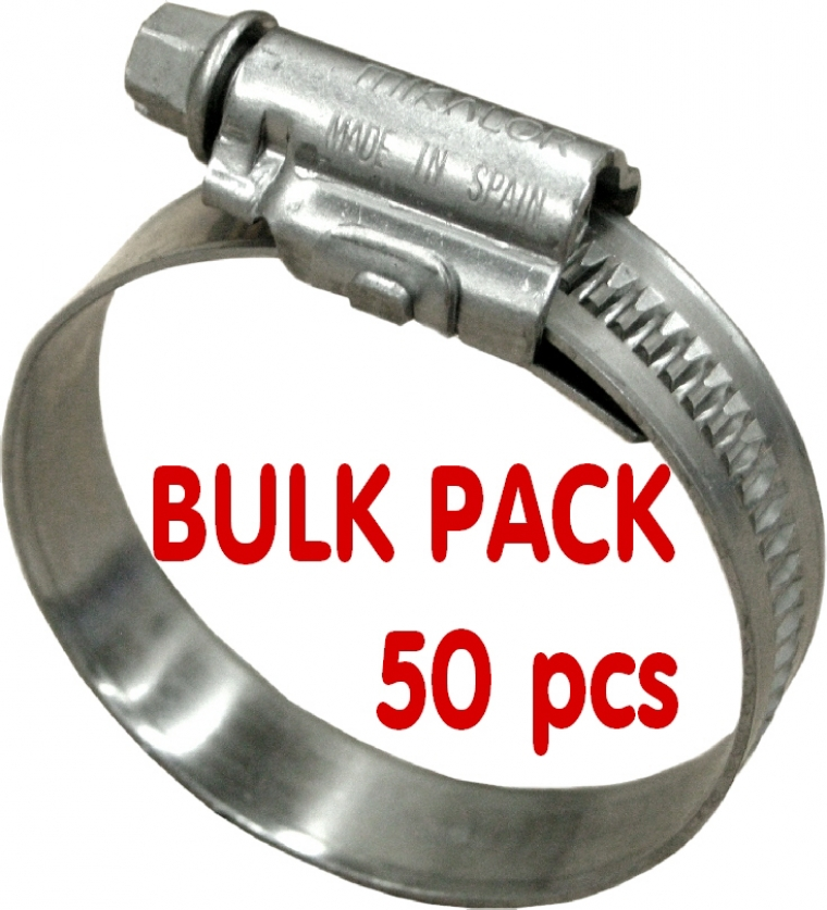 Mikalor Stainless Steel Hose Clamp Bulk Pack 50 Pcs From