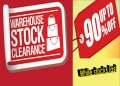 WAREHOUSE<br>CLEARANCE STOCK