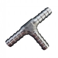 NEW - Barbed Hose Aluminium<br> Tee Connectors